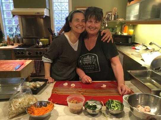 Judy making Akka's favourite shrimp rolls