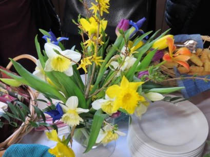 Flowers chosen and arranged by Heidi